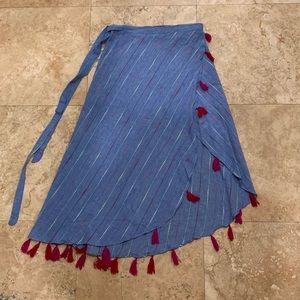 Red Carter Skirts - Red Carter Navya Wrap Skirt M